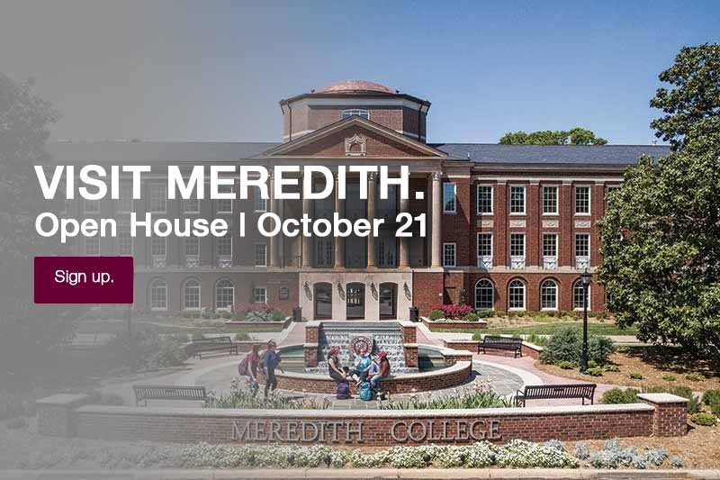 Johnson Hall. Visit Meredith. Open House October 21. Sign up.