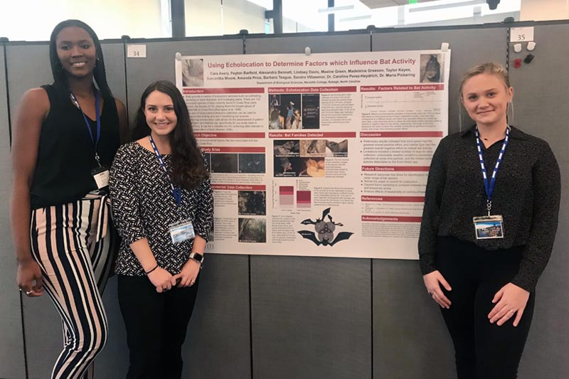 Three Students at State of NC Undergraduate Research & Creativity Symposium