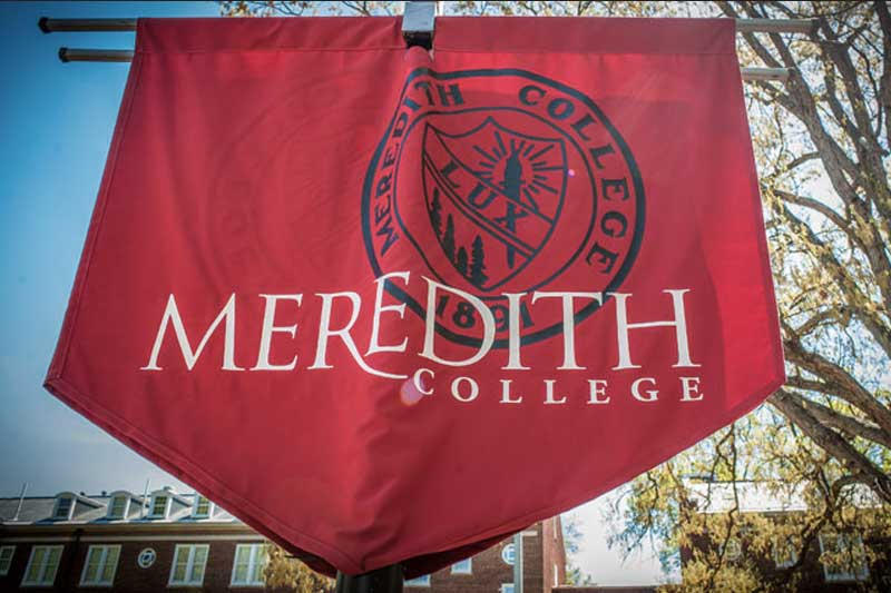 Meredith College banner with college name and wordmark