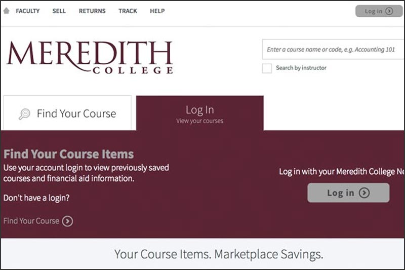 Meredith Online Bookstore