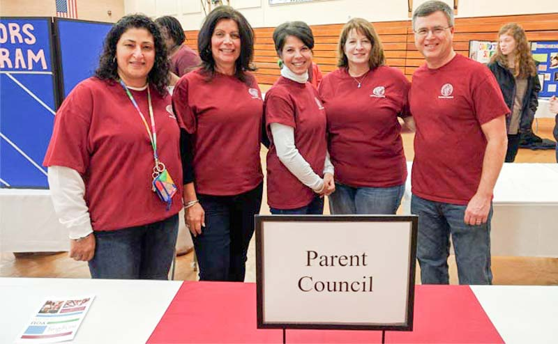 Parent Council volunteers at Meredith event