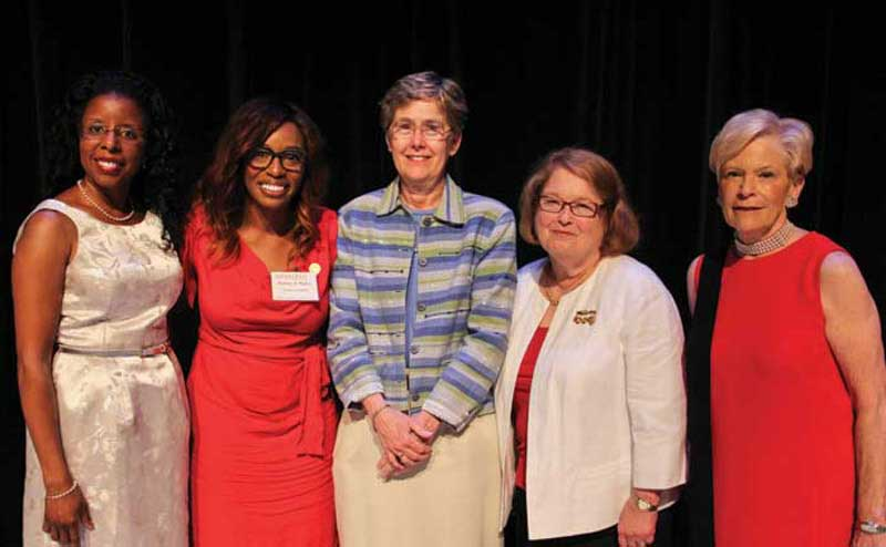 Women inducted into the Golden Oaks Society.