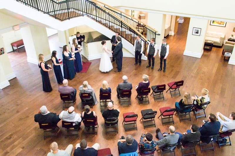 Johnson Hall Rotunda Wedding
