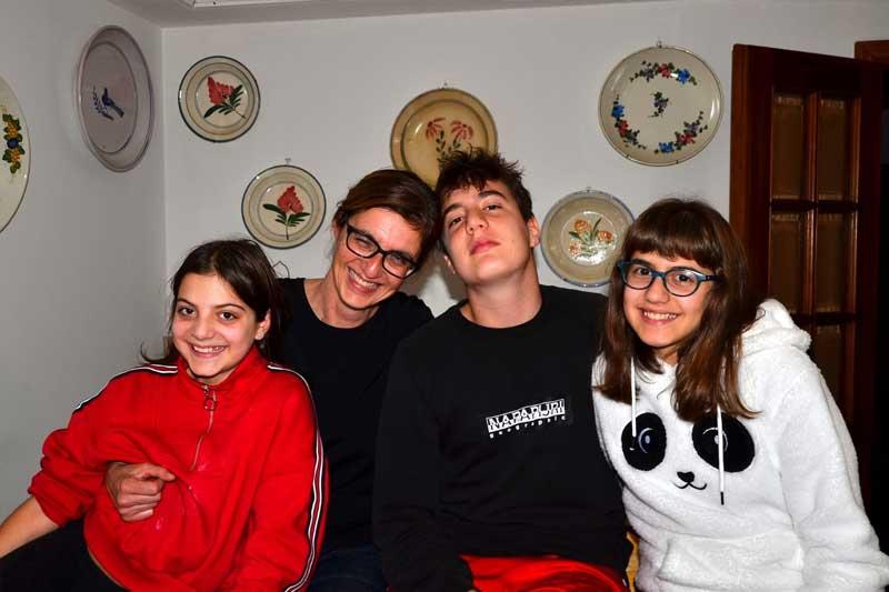 Sara Andreini and family