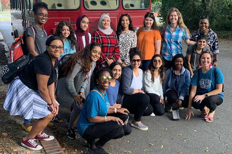 Meredith students with international backgrounds and those from out-of-state were able to experience their new home through a recent field trip to downtown Raleigh.