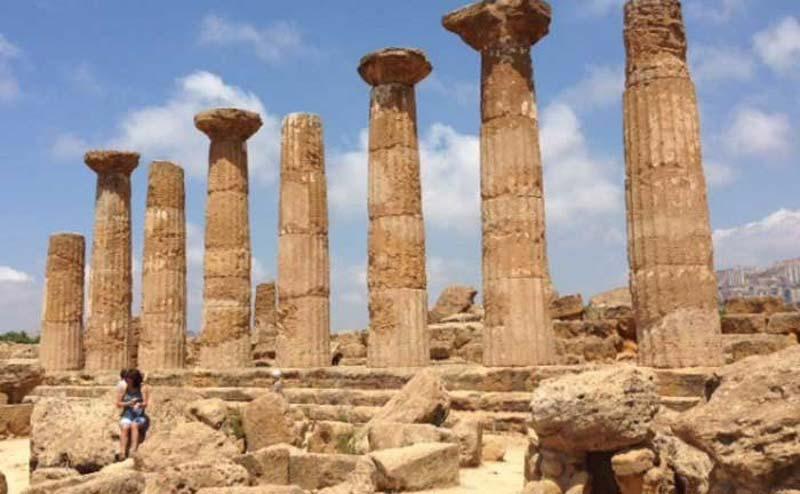 Roman ruins in Sicily
