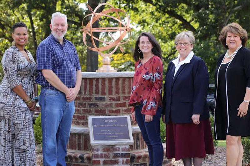 Campus leaders who spoke at the Thomas Meredith Memorial Marker dedication