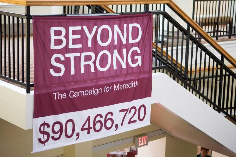Beyond Strong |The Campaign for Meredith total raised $90,466, 720