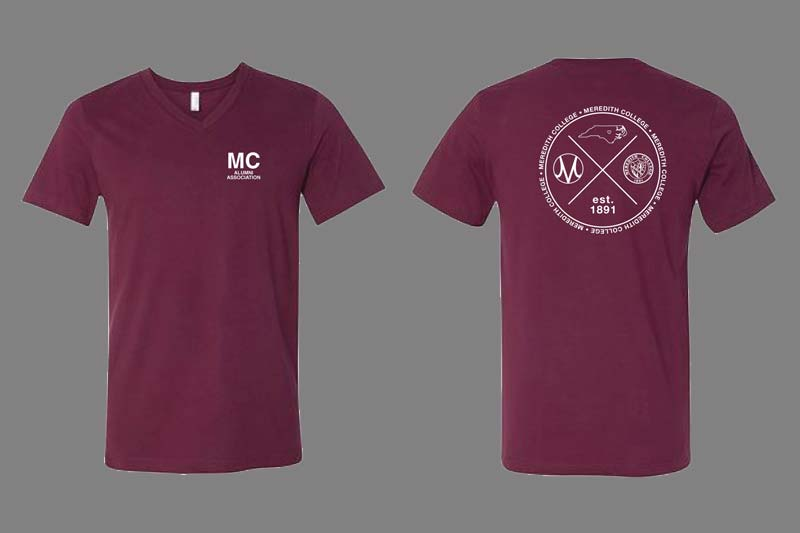 1891 Club T-shirts - Maroon with white text