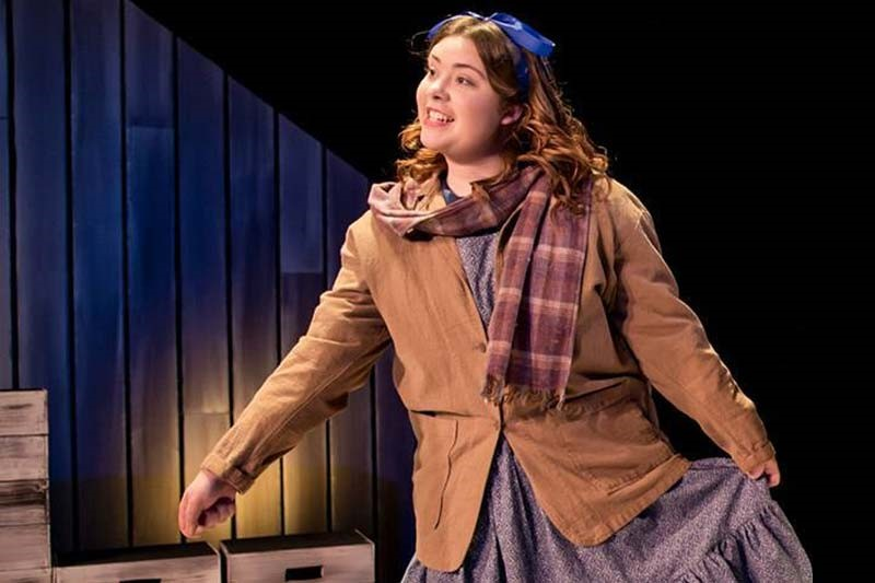 Victoria Mitchell as Samantha Steadman in the Meredith production of A Laura Ingalls Wilder Christmas.
