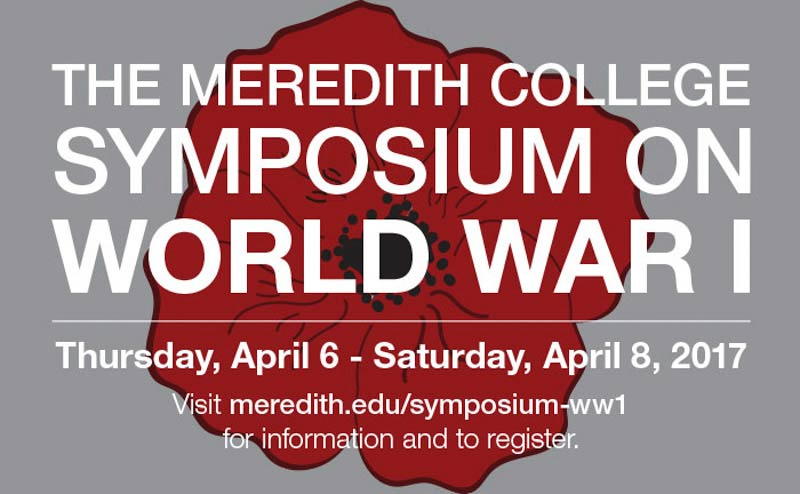The WWI Symposium was held on April 8.