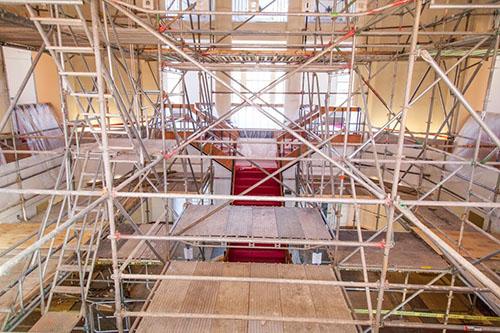 First floor of Johnson Hall under construction