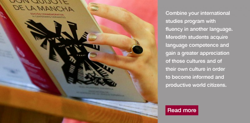 Combine your international studies with fluency in another language