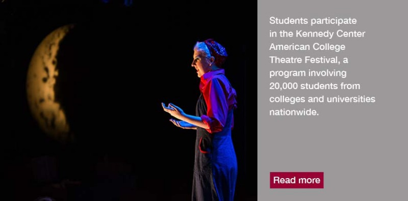 Student participate in the Kennedy Center American College Theatre Festival