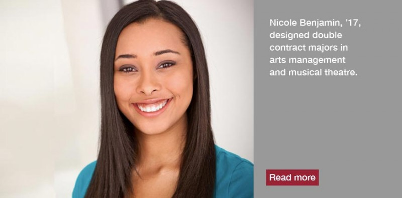 Nicole Benjamin, '17, created her own path at Meredith by taking advantage of a unique option to design her own major