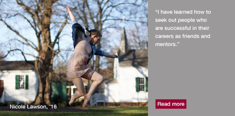 Nicole Lawson, '16, is a firm believer in the power of dance to educate and transform.
