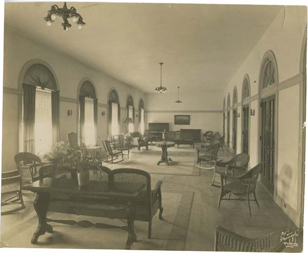 Inside the Old Johnson Hall