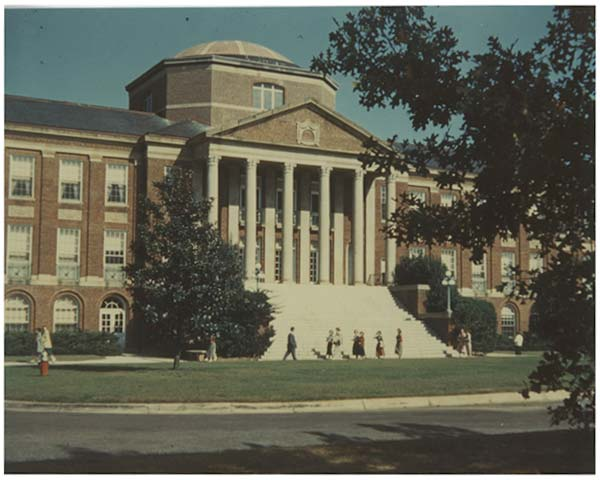 The outside of the old Johnson Hall