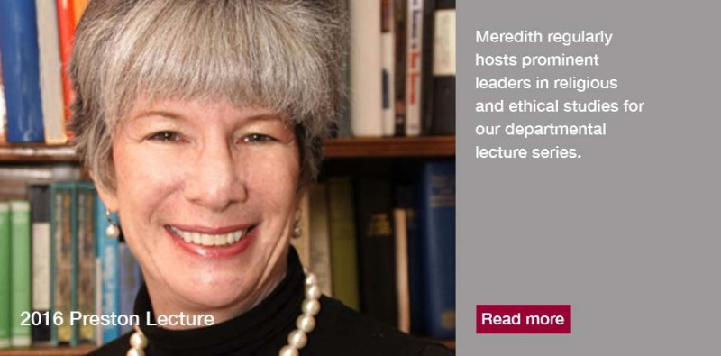 "Amy-Jill Levine, of Vanderbilt Divinity School delivered the 2016 Preston Lecture at Meredith College. Her topic was ""Jesus and Judaism: Why the Connection Matters."