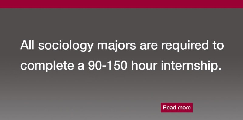 All Sociology majors are required to complete a 90-150 hour internship