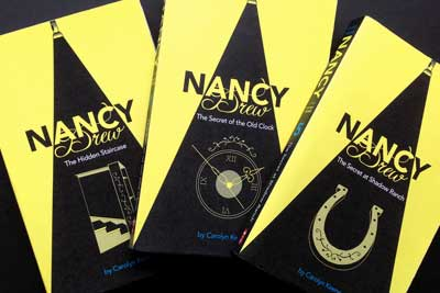 Nancy Drew Book Covers: Black and Yellow