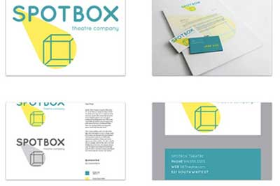 Spotbox logo and stationary