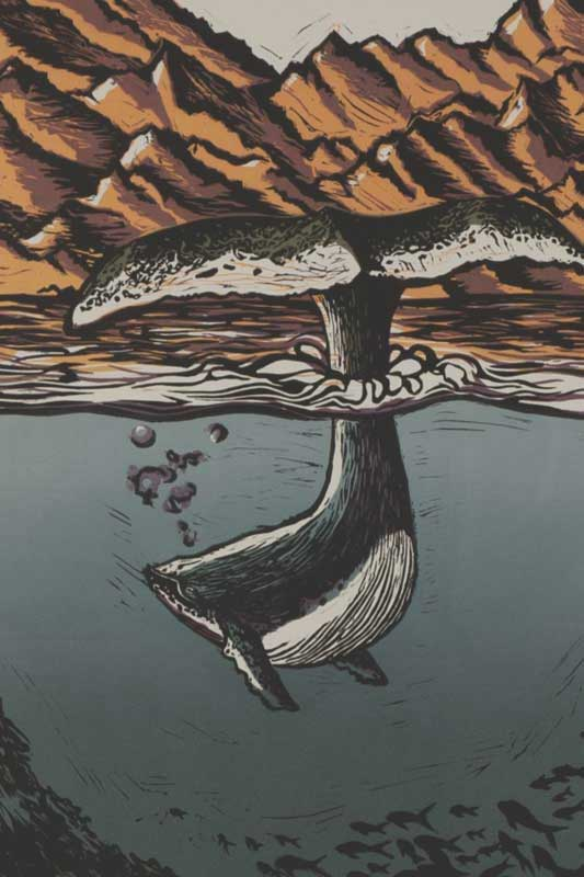 Block Print of Killer Whale
