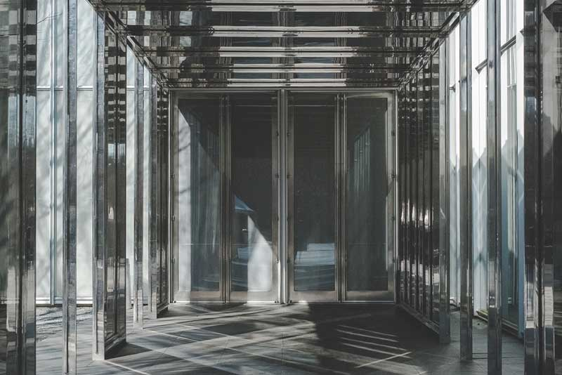 Photo of Glass atrium with reflections