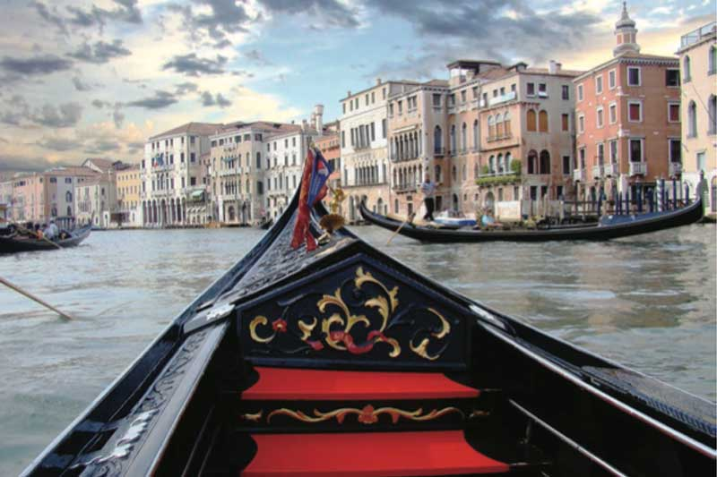 Photograph of Gondola on water in Venice