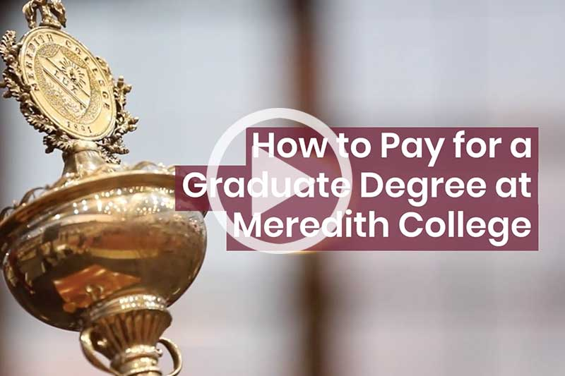 Click image of the College Mace to watch video on how to pay for graduate school