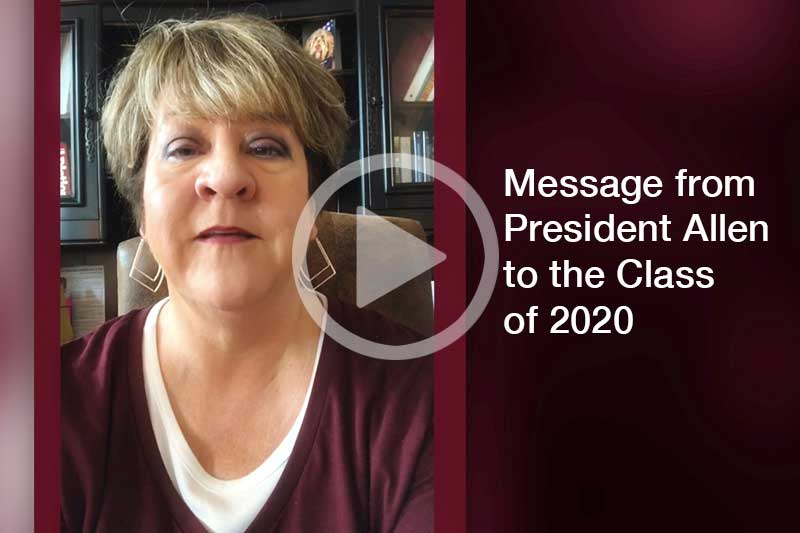Click Image of President Jo Allen to watch video message in a modal