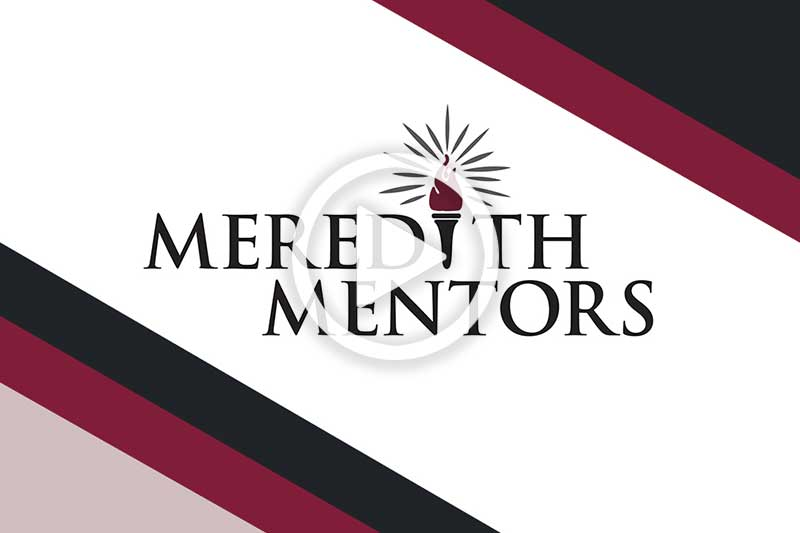 Click on Meredith Mentors Logo to play video in modal