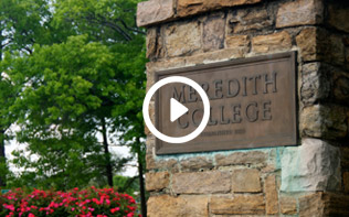Meredith College sign