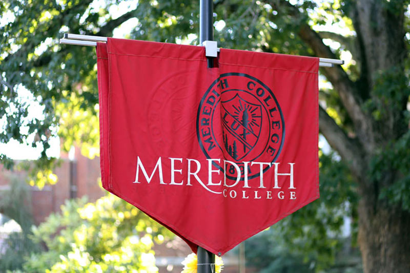 Red Meredith College Banner