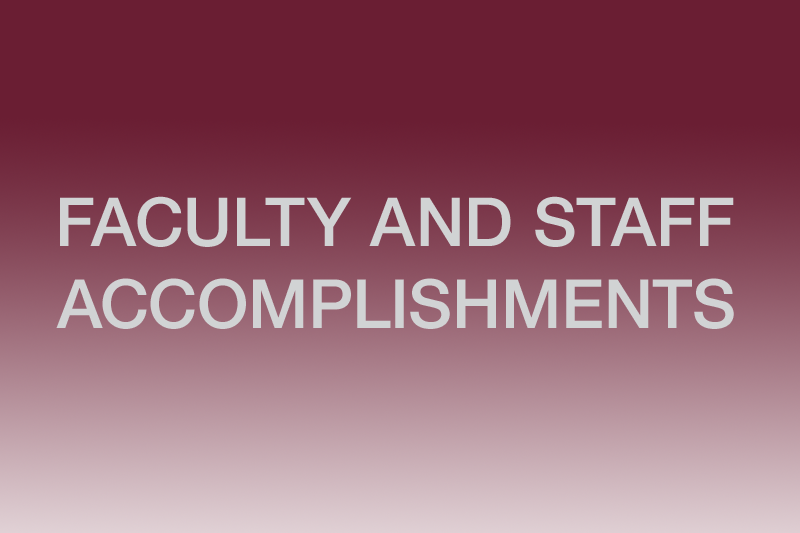 Faculty and Staff Accomplishments graphic