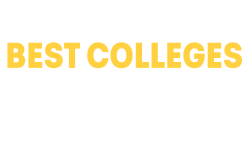 """Text that reads """"One of America's Best Colleges. Princeton Review US News, Forbes""""."""