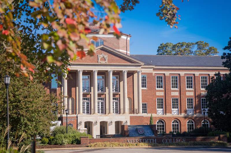 Johnson Hall in the Fall season