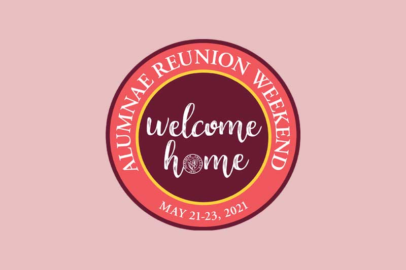 Graphic with text Welcome Home