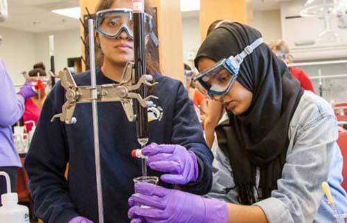 Students in Chem Lab