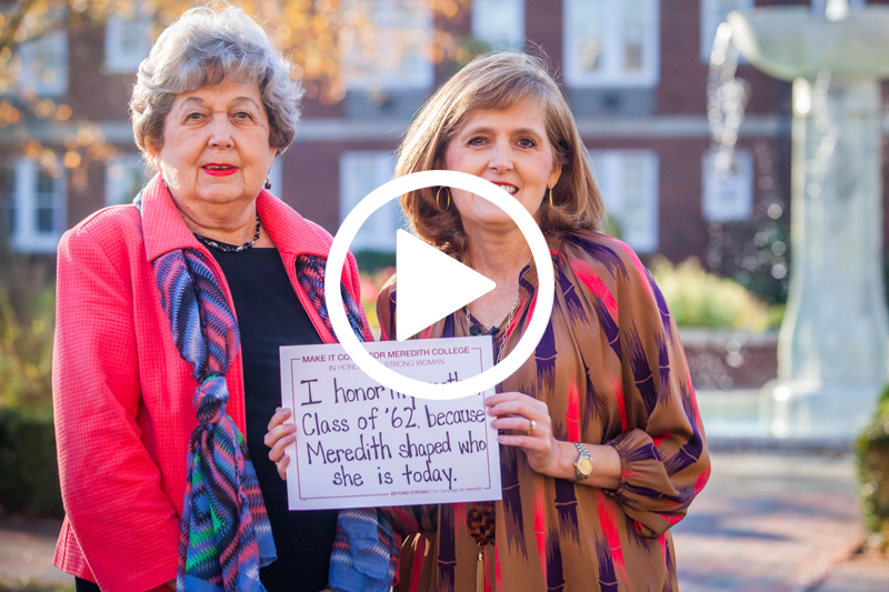 Click on image of mother and daughter donor to watch a Video about Giving Day