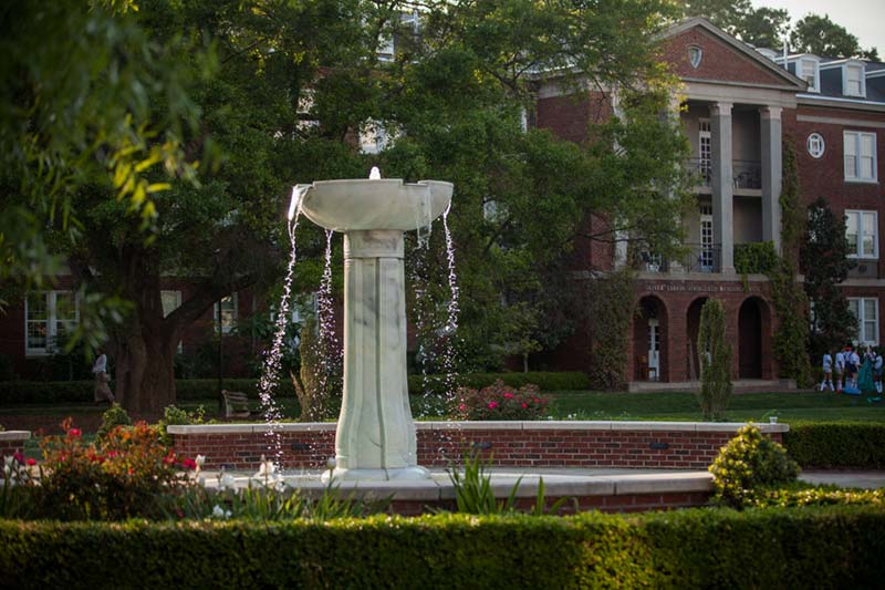 Fountain and residence halls