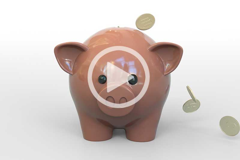 Click Image of Piggy Bank to watch video in modal