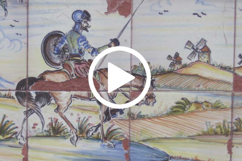 Click on image of Don Quixote to watch video in modal explaining Why Don Quixote Still Matters