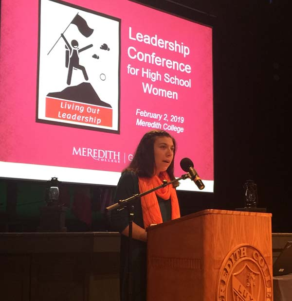 Student Speaking at Leadership Conference for High School Women