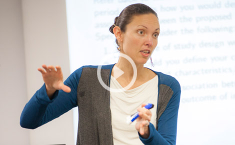 click image of Carolina Perez-heydrich to watch video in modal explaining Why is it so difficult to eradicate some diseases