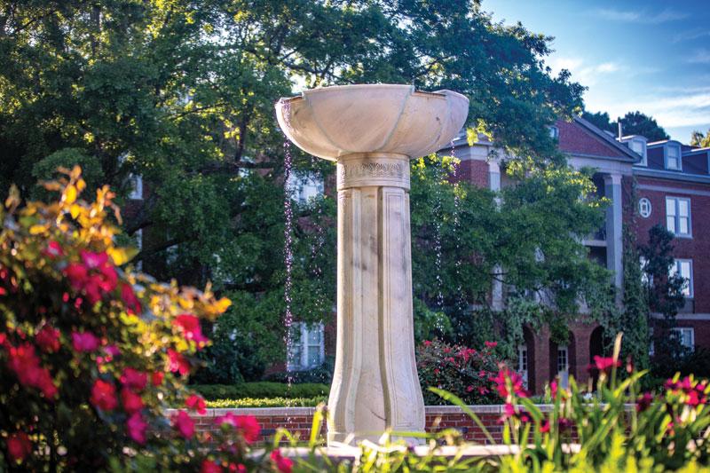 Heck Fountain in Campus Quad