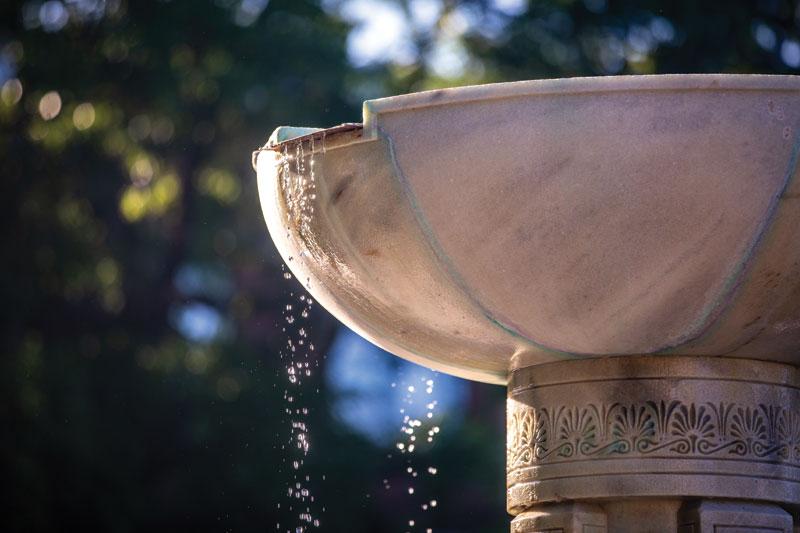 courtyard fountain closeup