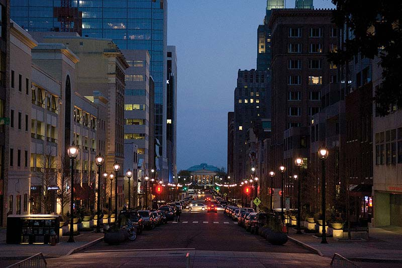 Image of Raleigh downtown street