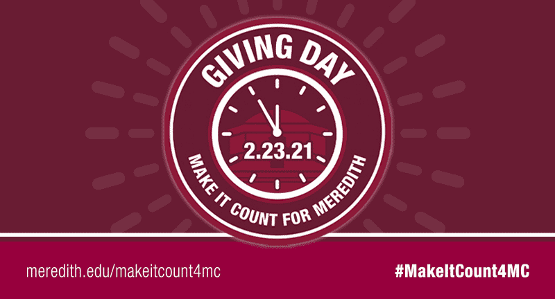 Giving Day - Make it Count For Meredith