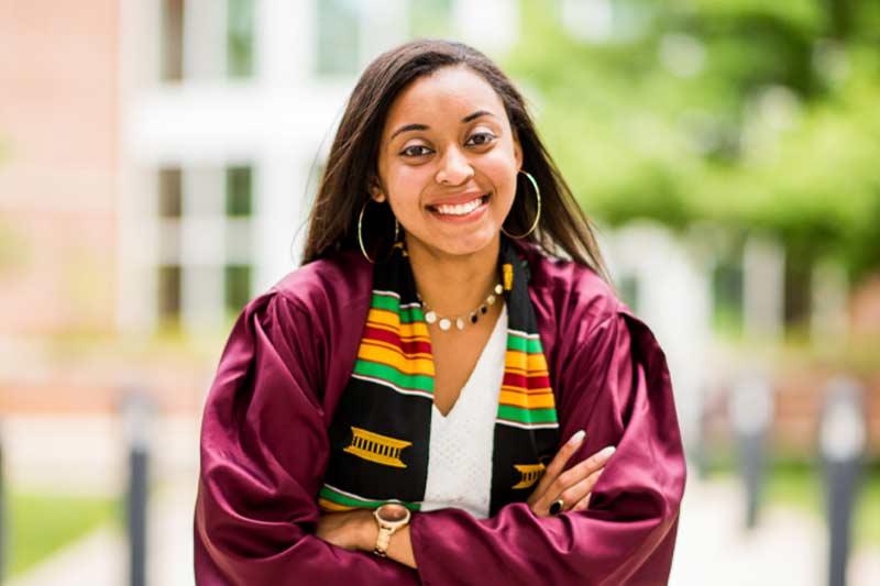 Taylor Keyes in Graduation Attire